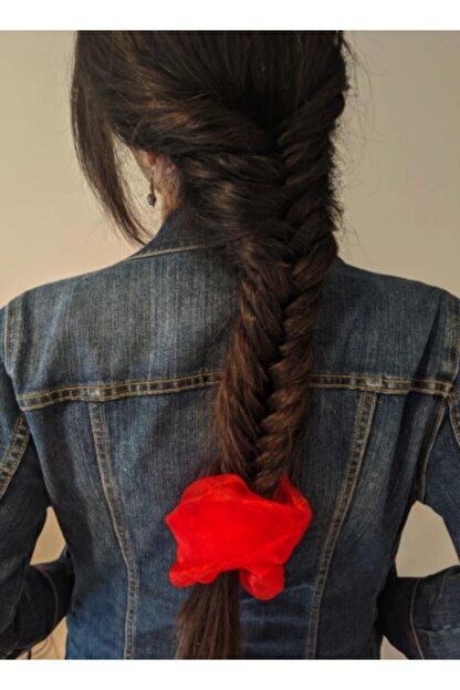 COMPANERO SHOP Kırmızı Organze Bulut Saç Tokası