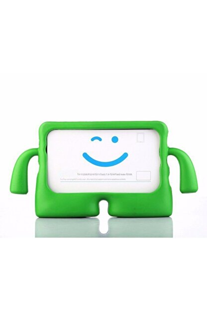Zipax Apple Ipad Pro 10.5 Kılıf Çocuklar Için Kollu Silikon - Yeşil