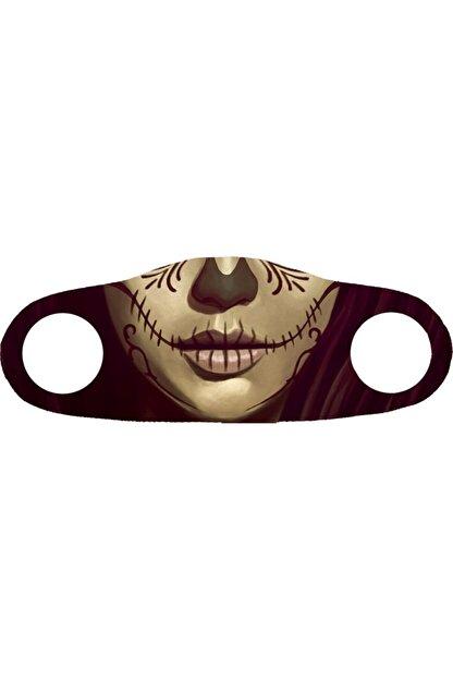 Angelino Moda Maske Kına Dövme Baskı No 33 Yıkanabilir Yetişkin Yüz Maskesi