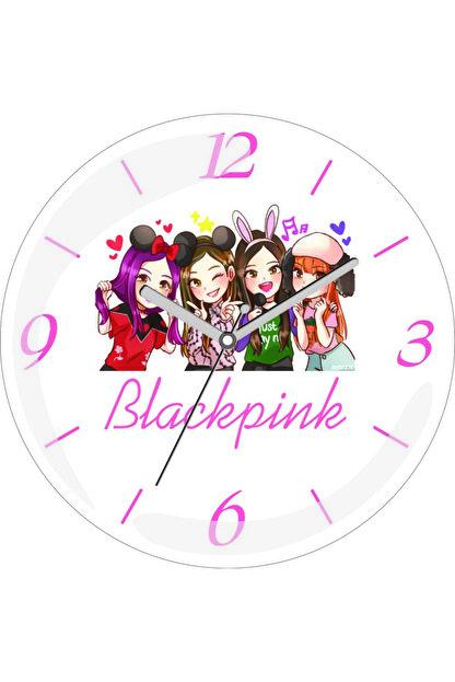 3M Blackpink Anime Sessiz Akar Bombeli Gerçek Cam Duvar Saati