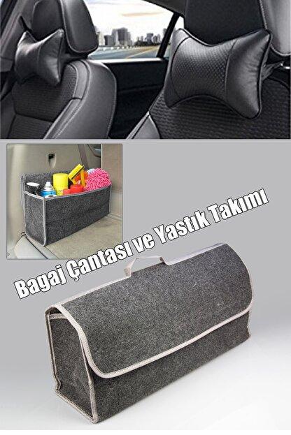 AutoFresh Mercedes 310 Bagaj Çantası Geniş Halı Cırtcırtlı - Koltuk Başlığı Uyumlu Ortopedik Yastık Takımı