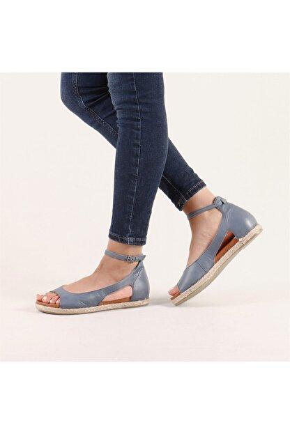 Hammer Jack Kadın Mavi Hakiki Deri Milano Deri Sandalet 236 4032-Z-10049