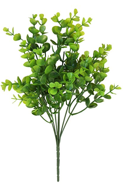 Yapay Çiçek Deposu 7 Dallı Yeşillik Şimşir Demeti 35 cm Yeşil