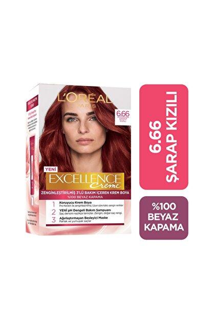 L'Oreal Paris Saç Boyası - Excellence Creme 6.66 Şarap Kızılı 8690595370002