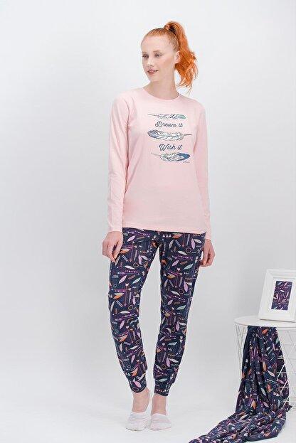 Arnetta Kadın Pembe Dream İnci  Pijama Takımı