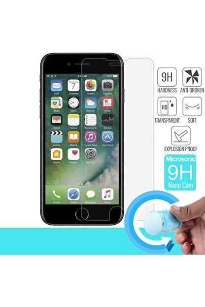 Cmk Apple Iphone 8 Plus Cam Ekran Koruyucu Ultra Ince Kırılmaz Blue Nano Şeffaf