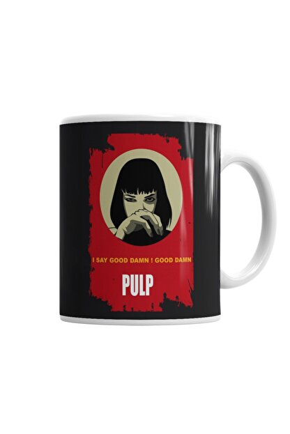 Baskı Dükkanı Pulp Fiction Gooddamn Mia Wallace Kupa Bardak Porselen