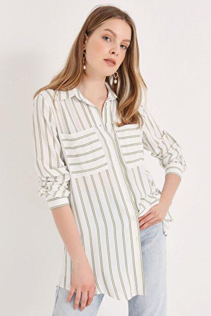 Home Store Kadın Haki Gömlek 20230003072