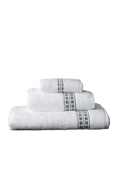 Maisonette Flossy Havlu 30x50 cm Beyaz-gri