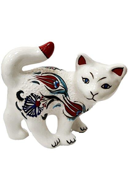 Otogar ��ini El Yapımı Çini Kedi Biblo