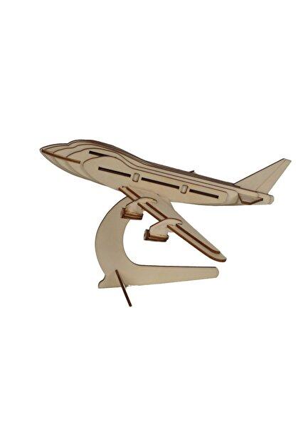 AlibabaPuzzle Alibaba Puzzle 3d Ahşap Boeing Uçak Modeli