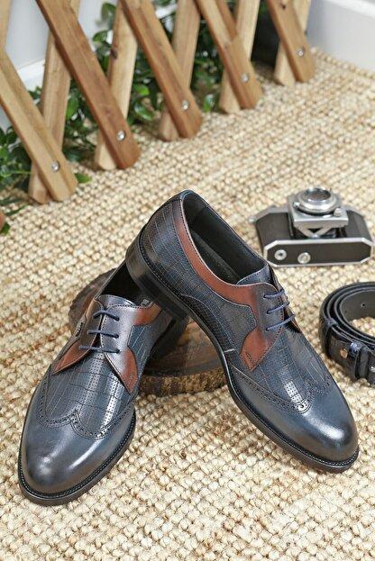 LUXXO Erkek Lacivert Montana Hakiki Deri Klasik Ayakkabı 2800
