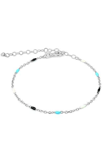 MySilvers Renkli Mineli Gümüş Bileklik
