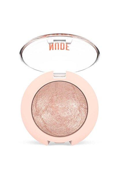 Golden Rose Işıltılı Terracotta Göz Farı - Nude Look Pearl Baked Eyeshadow No:01 Ivory  8691190967253