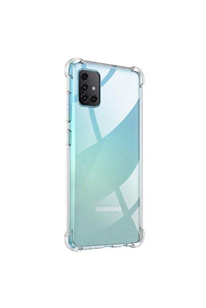 Zengin Çarşım Samsung Galaxy A71 Ultra Ince Şeffaf Airbag Anti Şok Silikon Kılıf