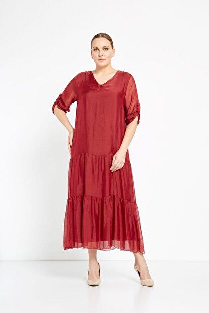 Camena V Yaka Ipek Elbise 2019070500172