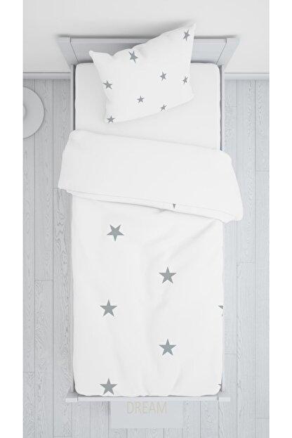 halımarkt Gri Yıldızlı Yatak Örtüsü Takımı Hm-b19