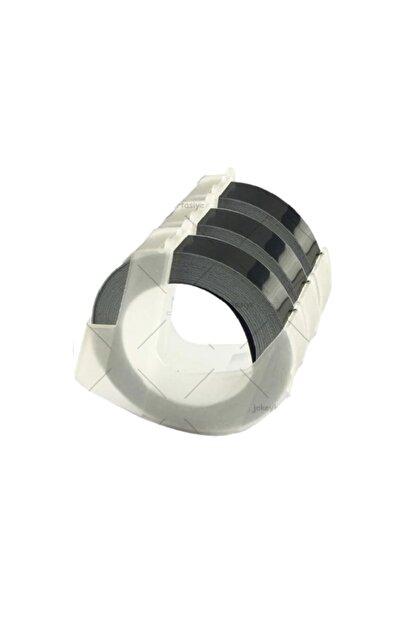 Motex Şerit Etiket Plastik Kabartma E-101 MoTEX ( 9mm X 3metre SİYAH )
