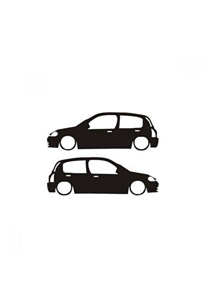TSC Clio Araba Resmi Cam Sticker Yapıştırma