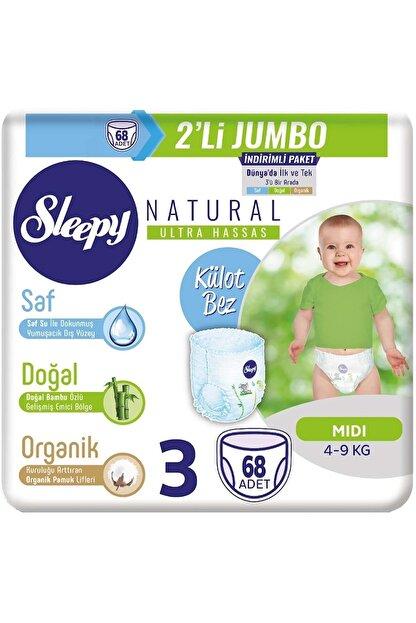 Sleepy Külot Bebek Bezi 3 Beden 68 Adet 2'li Jumbo