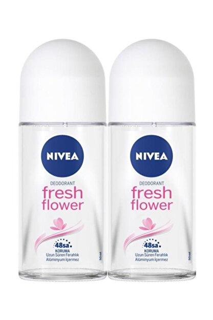 Nivea Kadın Roll On Deodorant Fresh Flower 50 ml  2'Li