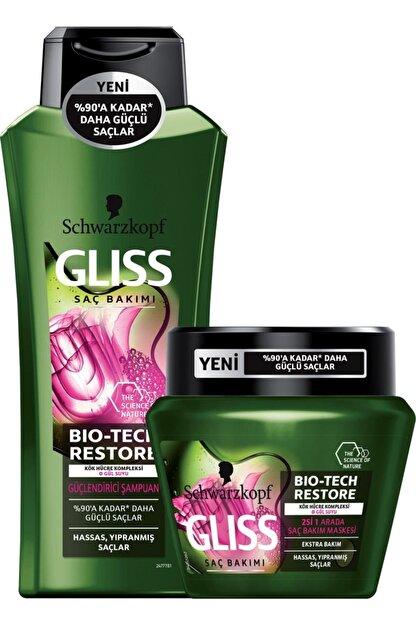 Gliss Bio-Tech Güçlendirici Şampuan 360 ml + Gliss Bio-Tech Saç Bakım Maskesi 300 ml