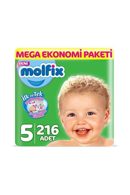 Molfix Bebek Bezi 5 Beden Junior Mega Ekonomi Paketi 216 Adet