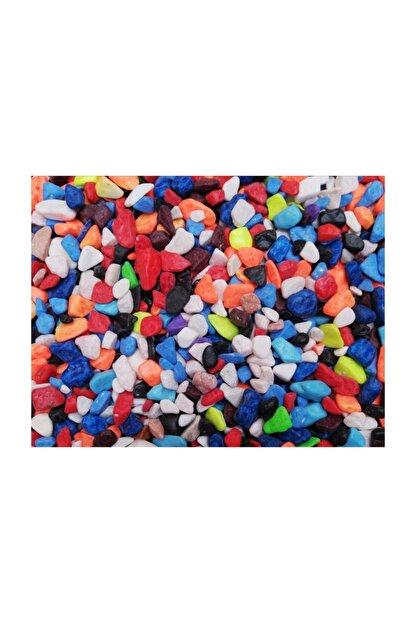 Akvaryum Karışık Renkli Çakıl 8-10mm 1kg Paket