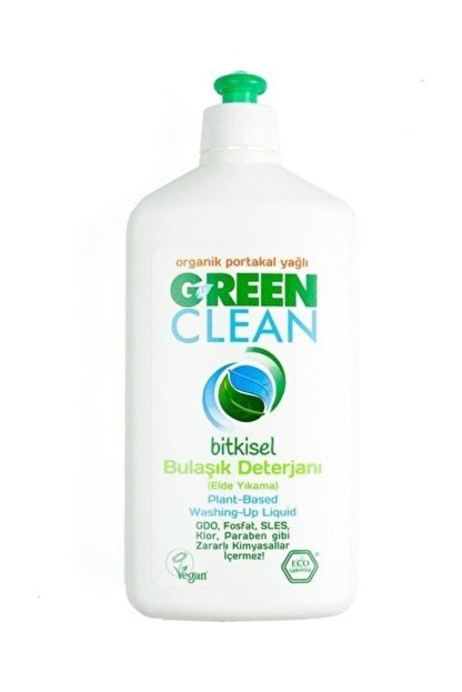 Green Clean Organik Portakal Yağlı Bulaşık Deterjanı 500 ml