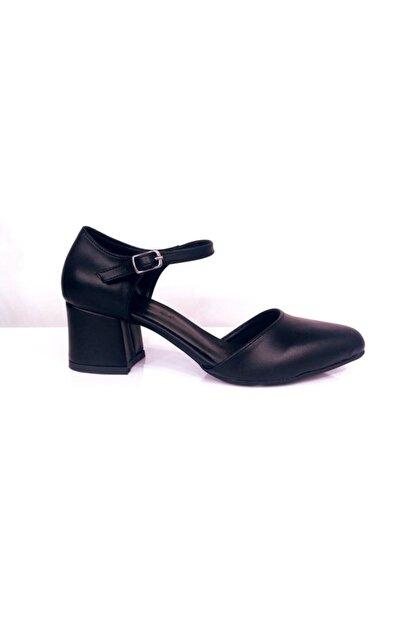 PUNTO Kadın Siyah Tek Bant Topuklu Ayakkabı 527078z