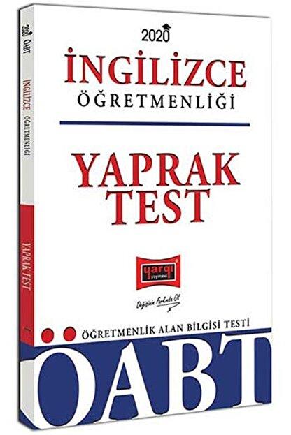 Yargı Yayınları 2020 ÖABT İngilizce Öğretmenliği Yaprak Test