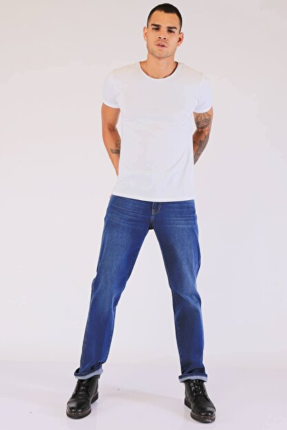 Twister Erkek Mavi Yüksek Bel Kot Pantolon Vegas
