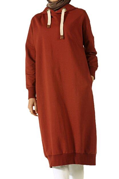 ALLDAY Kadın Turuncu Kuşgözlü Penye Sweatshirt