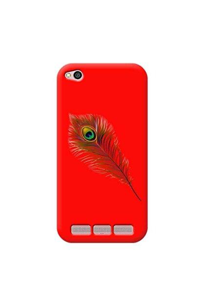 Kılıf Madeni Xiaomi Redmi 4a Tüy Kırmızı Koleksiyon Telefon Kılıfı Y-krmklf320