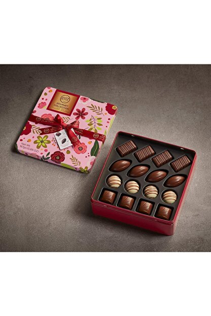 Elit Çikolata Gourmet Collection Çiçekli Metal Kutu 167g