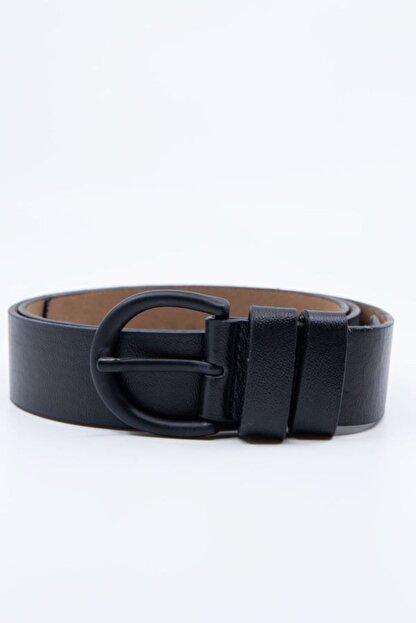 Shaka Siyah Tokalı Kemer Genişlik 3,3cm 0029