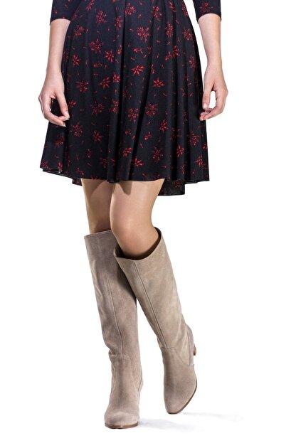 Dantes Kadın Bej Süet Deri Çizme