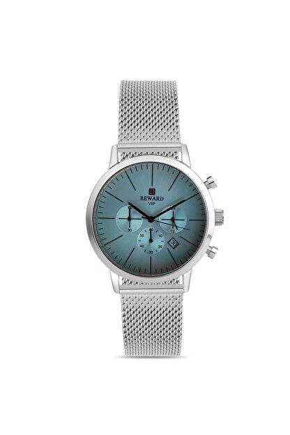 Reward Kadın Kol Saati Renkli Cam Gümüş Hasır