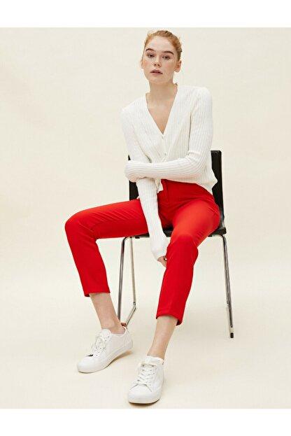 Koton Kadın Kırmızı Cigarette Pantolon