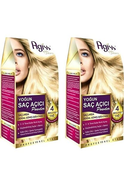 AGISS 2 Paket Yoğun Saç Açıcı Powder Besleyici Etkili + Bakım Onarım