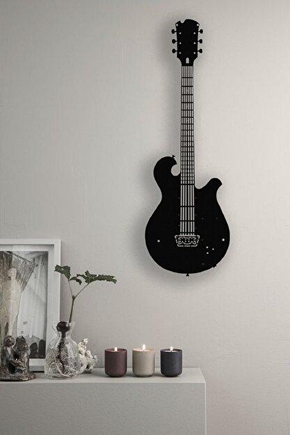 Kumru Dekor Elektro Gitar Dekoratif Metal Duvar Tablosu 60x23cm Büyük Boy