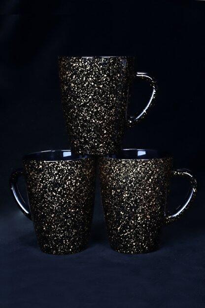 Pural Granit Gold Siyah Vega Kupa 3 lü