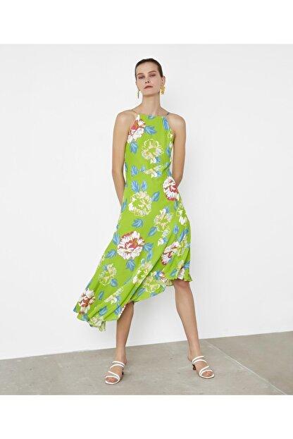 İpekyol Çiçek Desen Askılı Elbise
