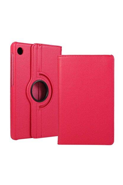 Huawei Matepad T10s Kılıf 360°dönebilen Deri Leather New Style Cover Case(pembe)