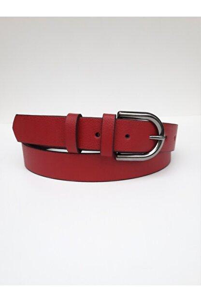 Kemerix Kırmızı Klasik Kemer