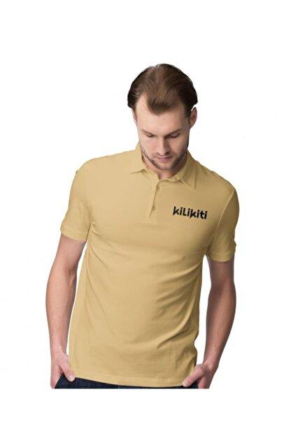 KİLİKİTİ Erkek Spor T-shirt Polo Yaka Gold