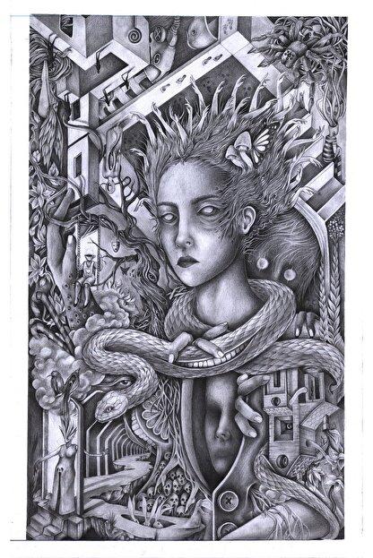 Alaattin Efe Isimsiz, 35x50, Kağıt Üzerine Karakalem