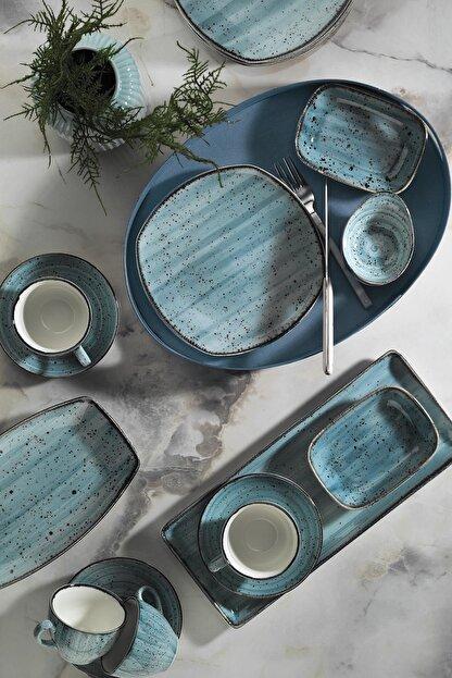 Kütahya Porselen Corendon Mavi 30 Parça Kahvaltı Takımı
