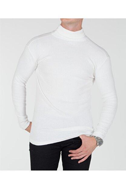 TREND YAŞAR Trend Erkek Beyaz Boğazlı Triko Kazak