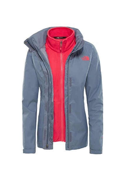 The North Face Triclimate Jacket Kadın Gri-pembe (Nf00cg566vwth-63)